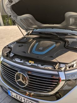 Mercedes electric EQC hood