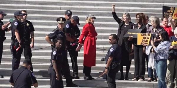 Climate Crisis Weekly: Jane Fonda arrested, more - Electrek