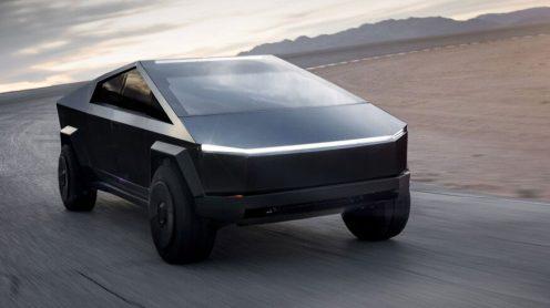 Tesla Cybertruck black front