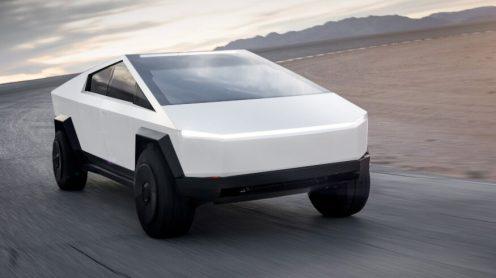 Tesla Cybertruck white front
