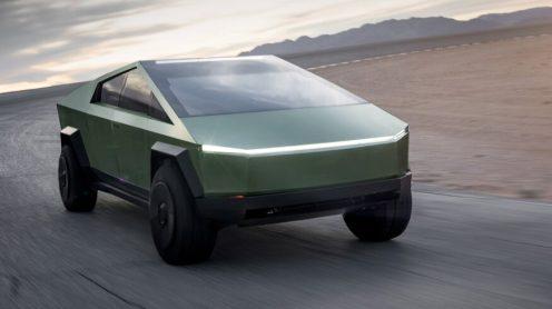 Tesla Cybertruck green front