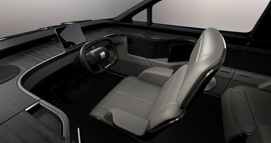 Neuron EV truck interior like Tesla Semi