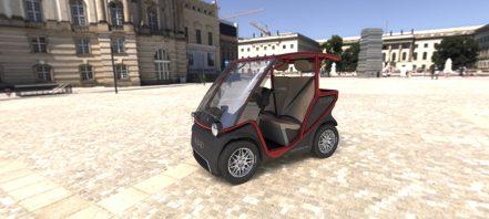 Squad Solar City Car 66 red