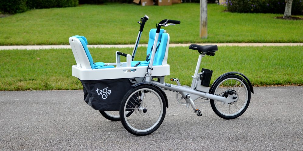 taga family electric cargo bike