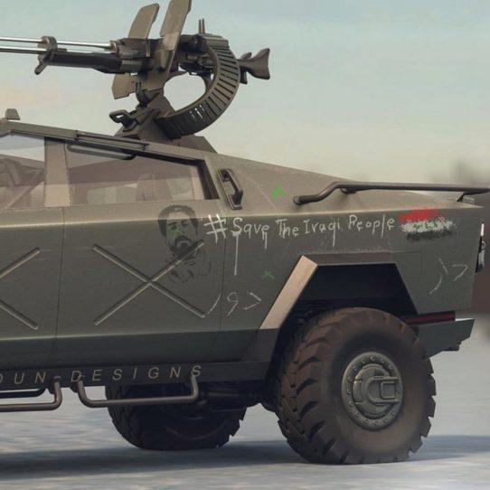 Tesla Cybertruck Warthog 3