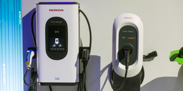 Honda showed off chargers in Amsterdam last year. But few of its models will use them.