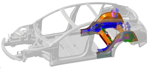 Tesla Model 3 underbody