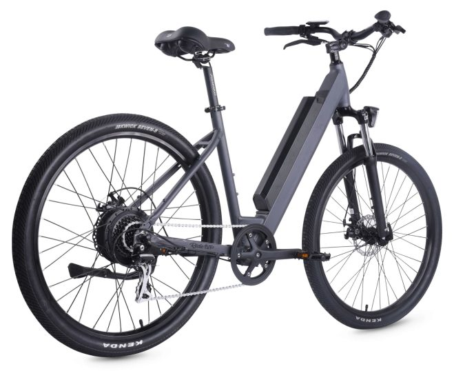 500-Series-Electric-Bike-Step-Thru-Frame-Black-back-view