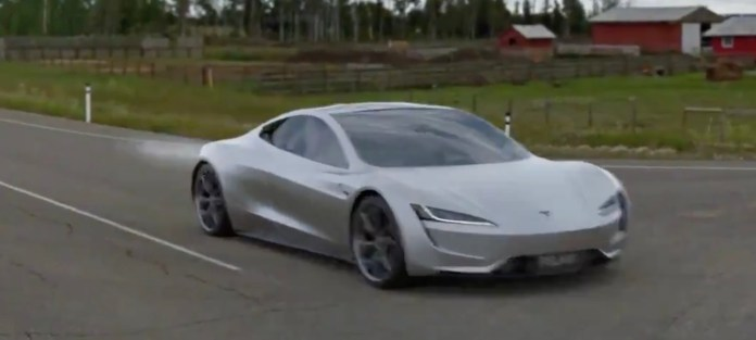 Tesla Roadster Concept Video Shows 1 1 Sec 0 60 Mph Acceleration With Spacex Thruster Electrek
