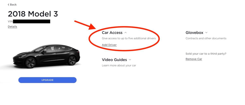 Tesla Digitaler Schlüssel eintragen