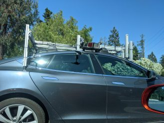 Tesla spotted with sensor rig 2
