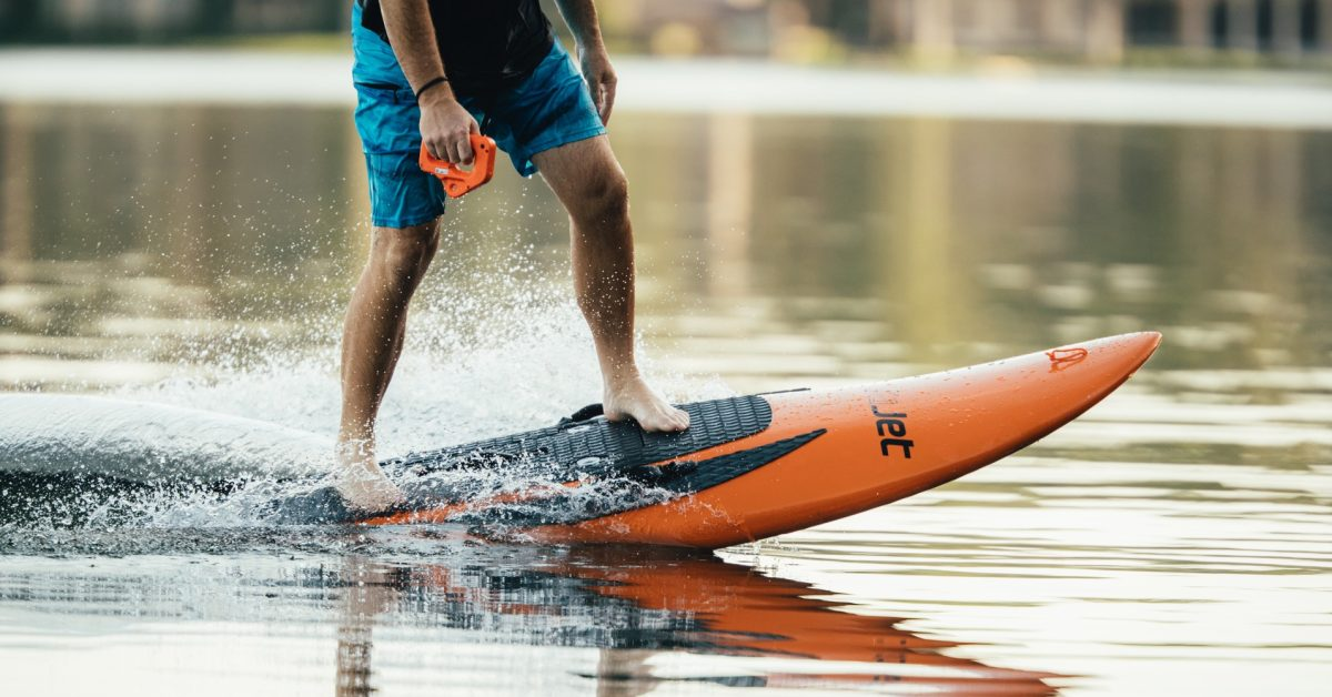 YuJet Surfer 24 mph electric surfboard with jet propulsion begins US sales