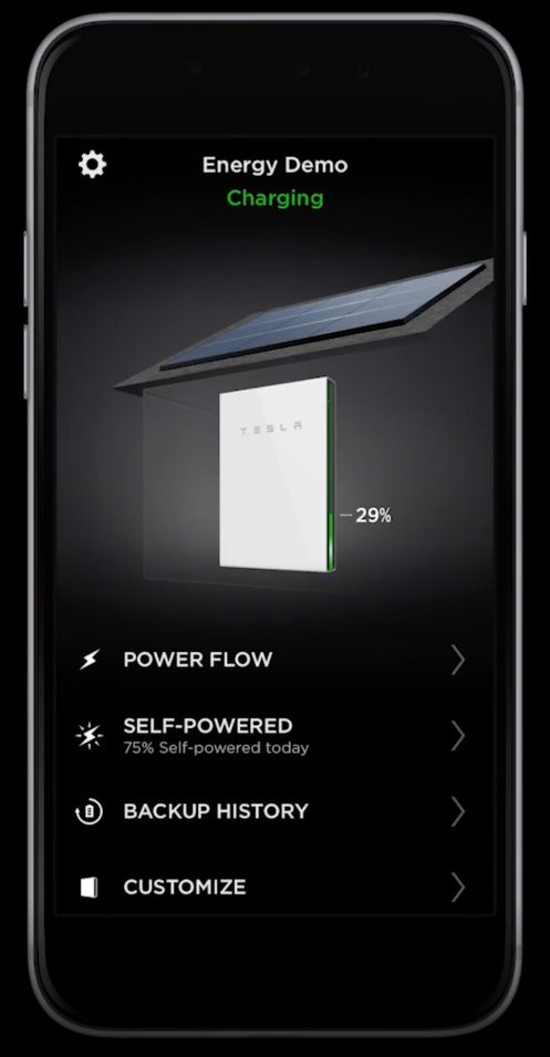 Tesla Solar app with Powerwall