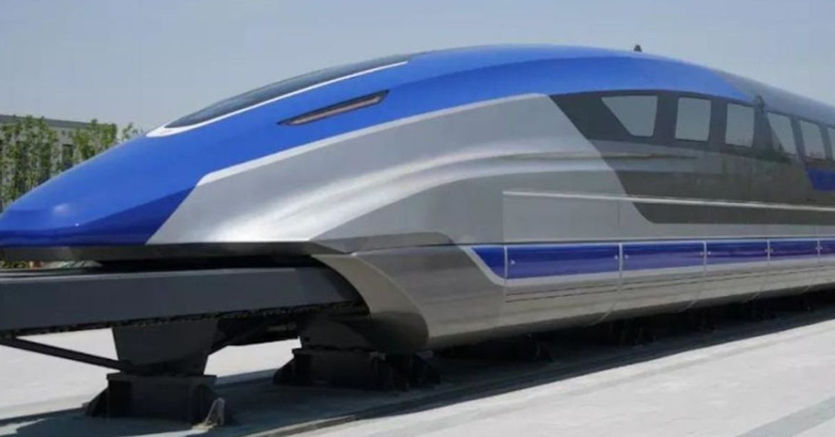 China debuts 385mph prototype magnetic levitation train - Electrek