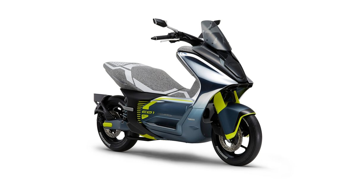 Get a look at Yamaha's E01 higher power electric scooter, coming soon