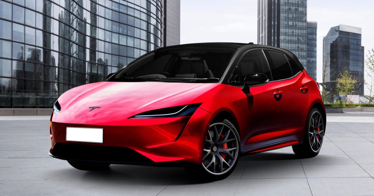 Tesla's $25,000 Model 2 electric car rendered – Dope or Nope? - Electrek