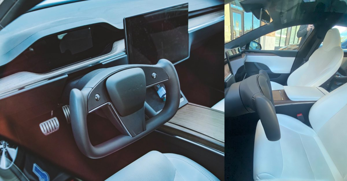 Tesla's controversial 'yoke' steering wheel spotted in the wild for the first time - Electrek