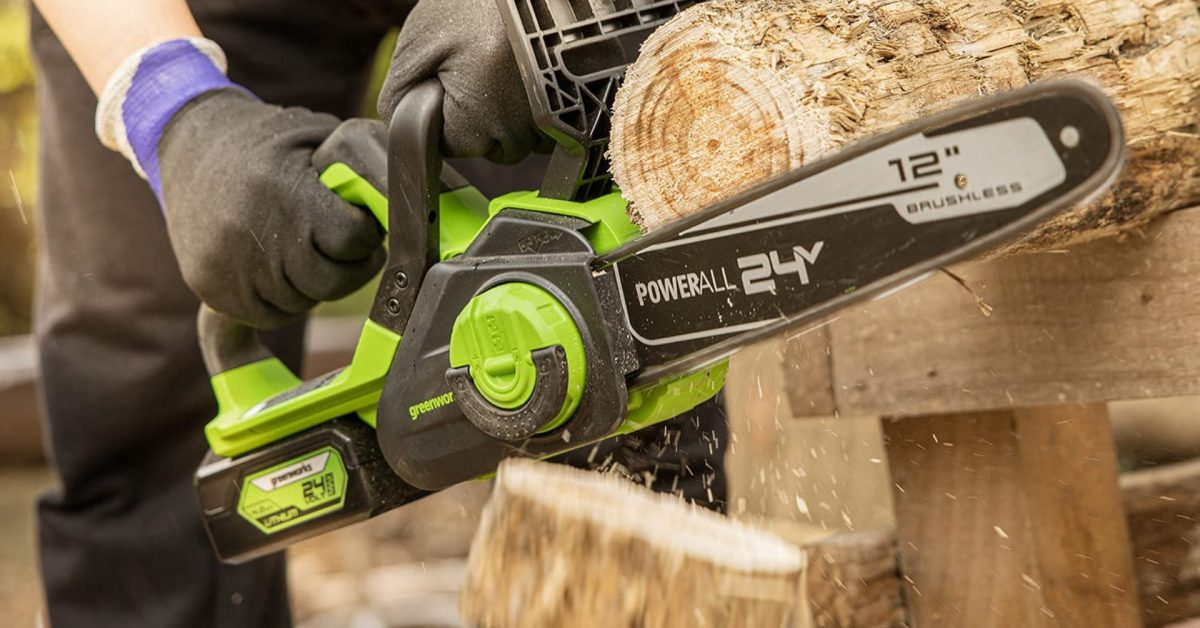 Green Deals: Trim your trees with a Greenworks 24V 12-in. brushless chainsaw at $170, more - Electrek