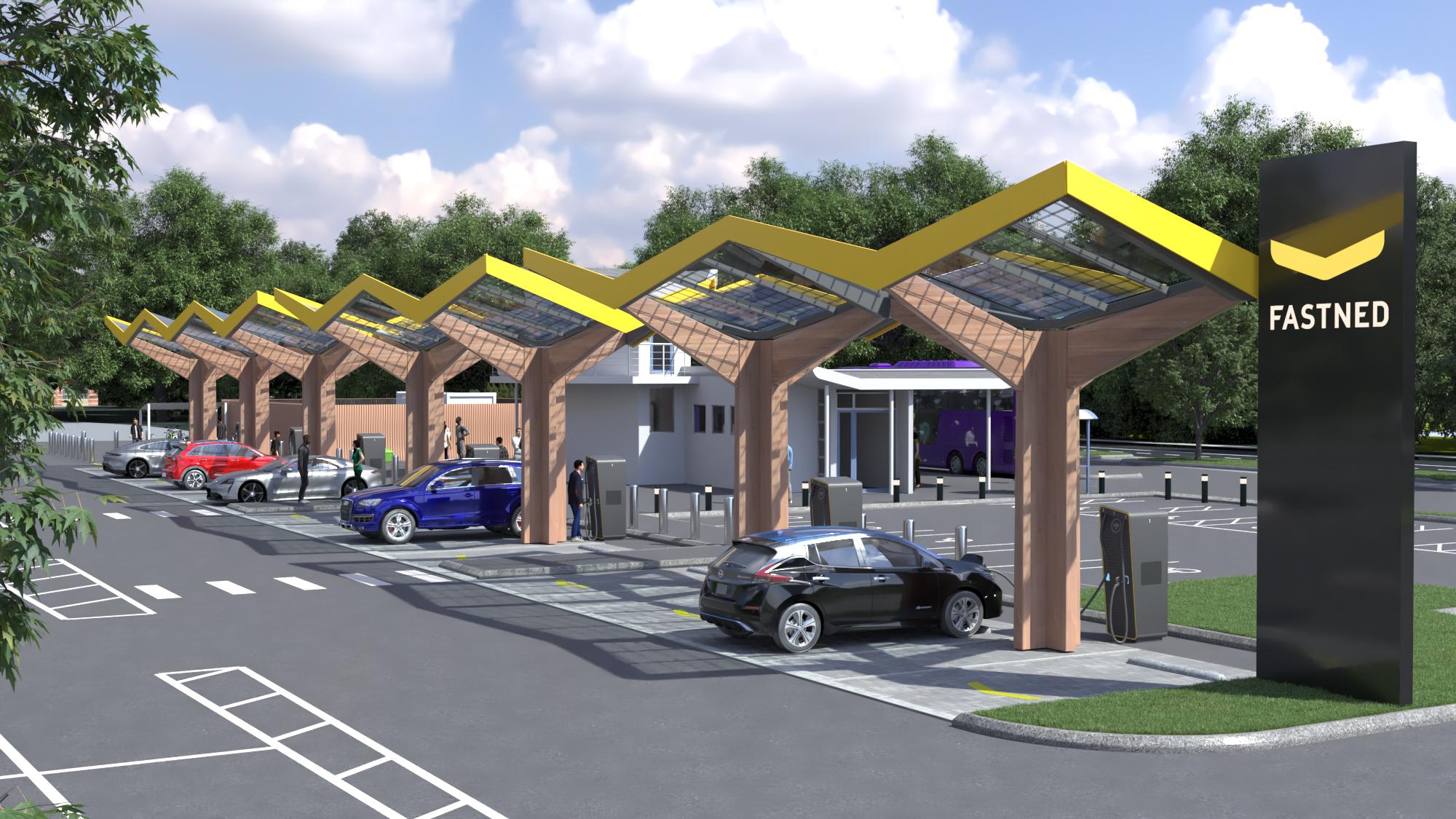 Tesla and Fastned create 'Energy Superhub' charging station