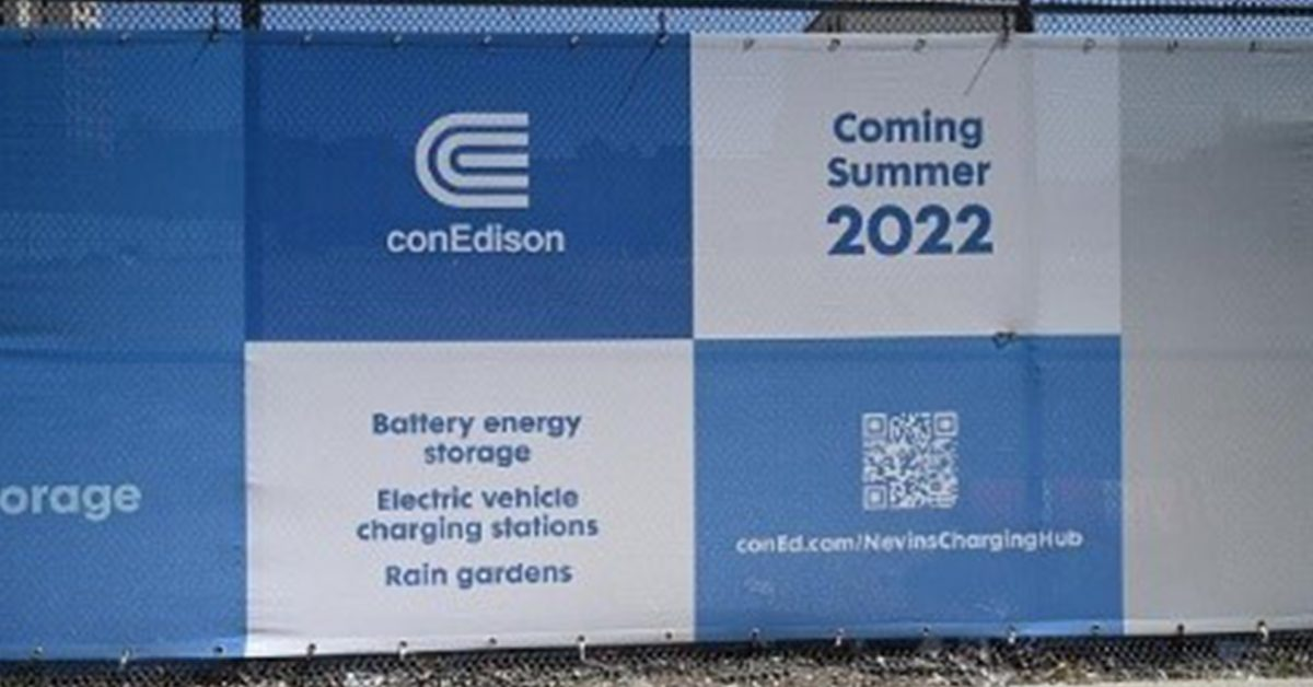 Con Edison to combine battery storage and EV chargers at same site in New York - Electrek
