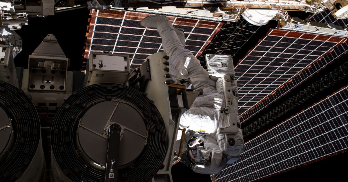 ISS astronauts successfully deploy solar arrays on second attempt