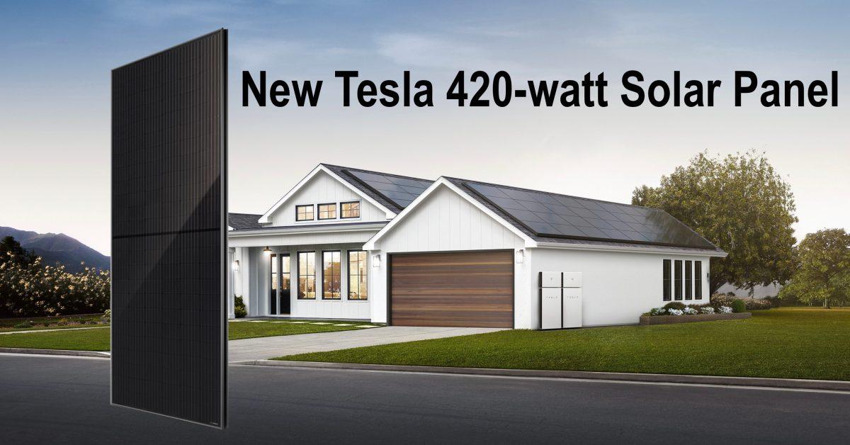 Tesla launches new 420-watt solar panel solar city by elon musk