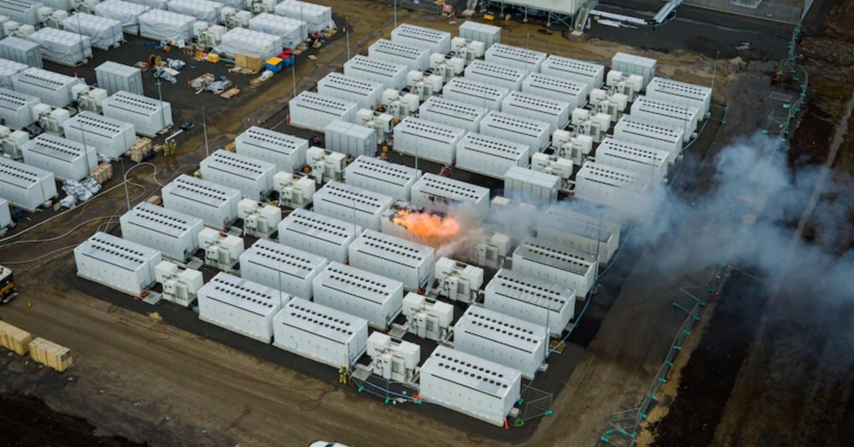 Tesla Megapack caught on in fire at giant battery project in Australia