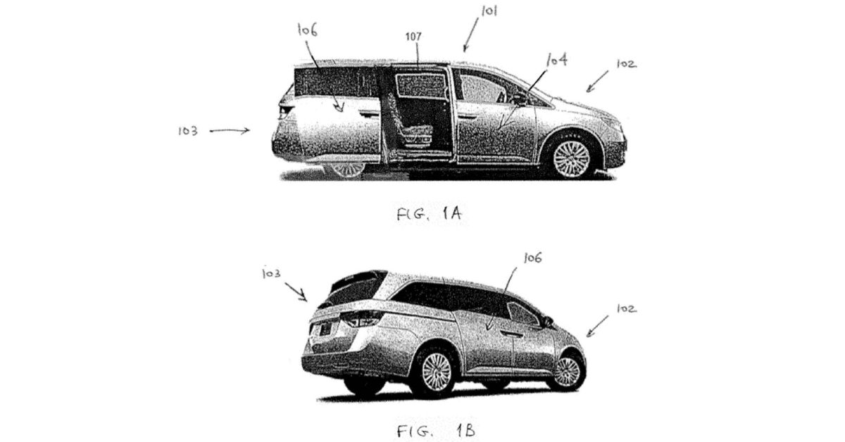 Rivian's minivan image in patent offers an exercise in imagination more than anything