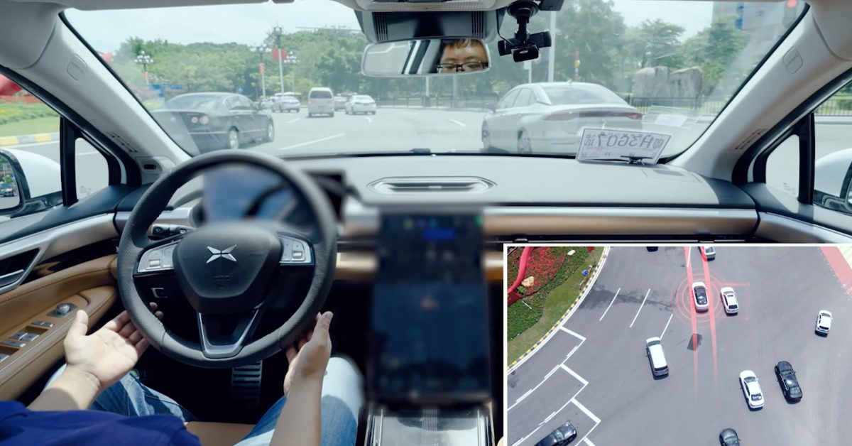 Watch XPeng's NGP system autonomously navigate a busy city