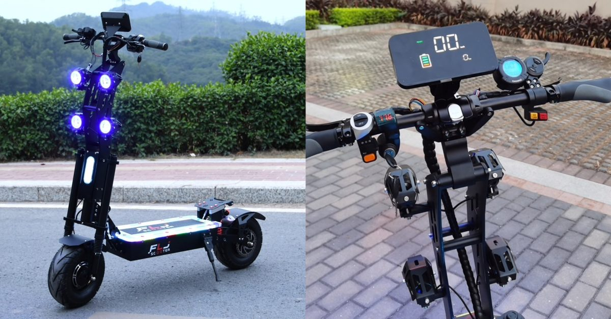 Awesomely Weird Alibaba EV of the Week: 60 mph standing electric scooter death machine