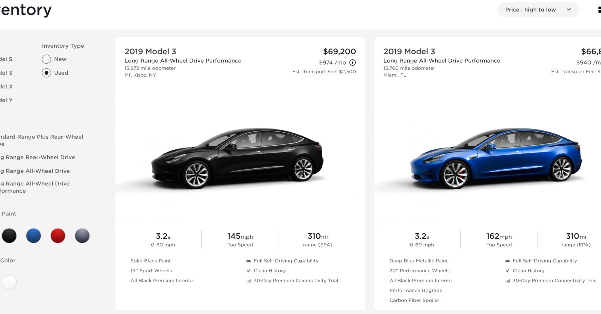 Tesla Model 3 is now the best-selling used car and even sometimes sells for higher price than new