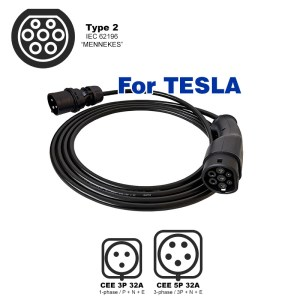Portable charger for TESLA (7.4kW - Type 2)