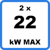 Max 2x22kW 1 - Duo charging station with cables (2 x 22kW)