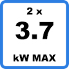 Max 2x3kW 1 - Duo charging station (2 x 3,7kW)