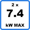 Max 2x74kW 1 - Duo charging station (2 x 7,4kW)