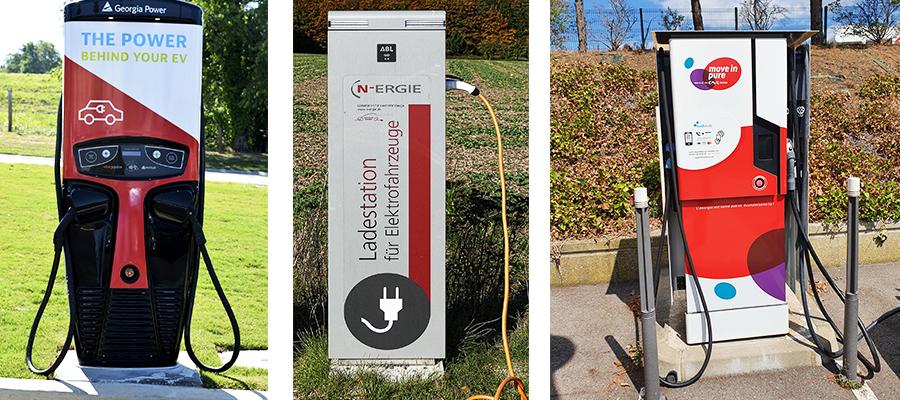 bornes de charge publiques pour vehicules electriques - Les bornes de recharge publiques