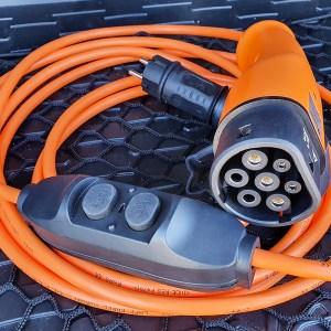 Draagbare oplader met huishoudelijke stopcontact voor elektrische auto (3,7 kW, Type 2)