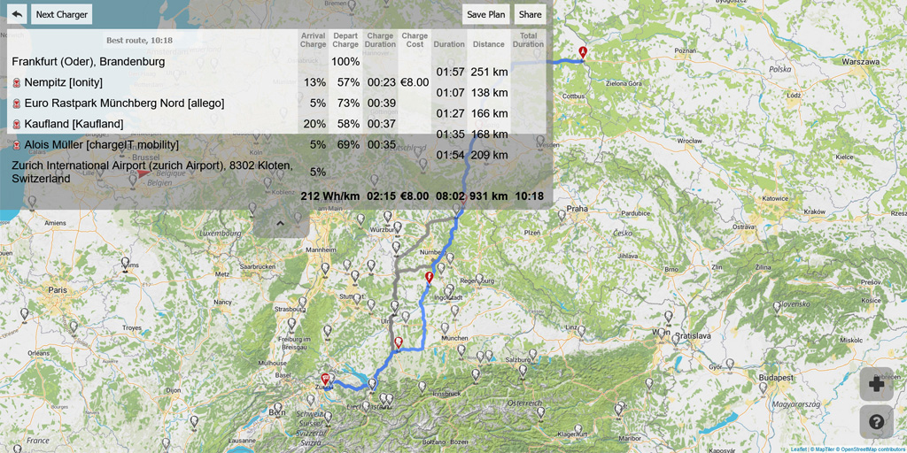 plan your electric car journey with a better route planner 1 - Elektrische voertuigen vandaag