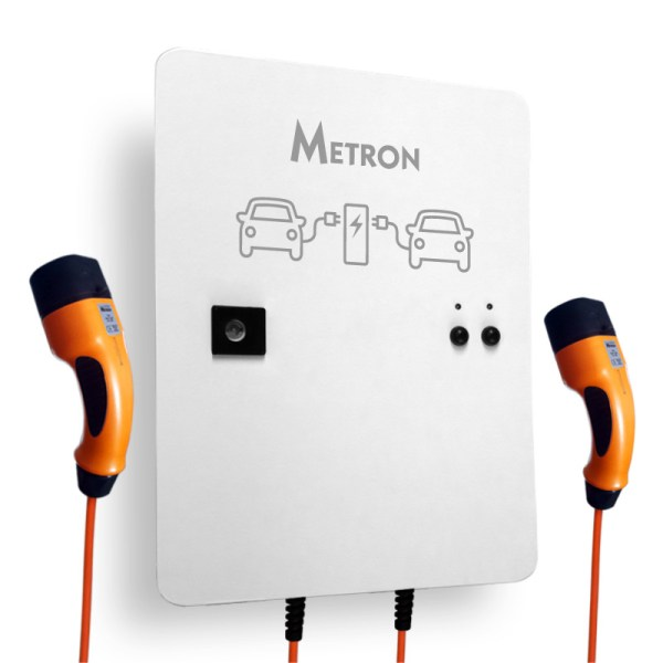Duo-oplaadstation met kabels (2 x 7.4kW)