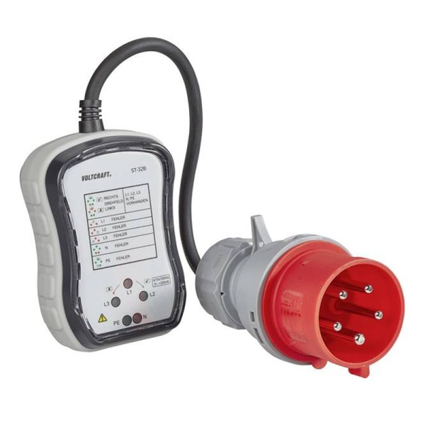Three-phase CEE 5P 32A socket tester