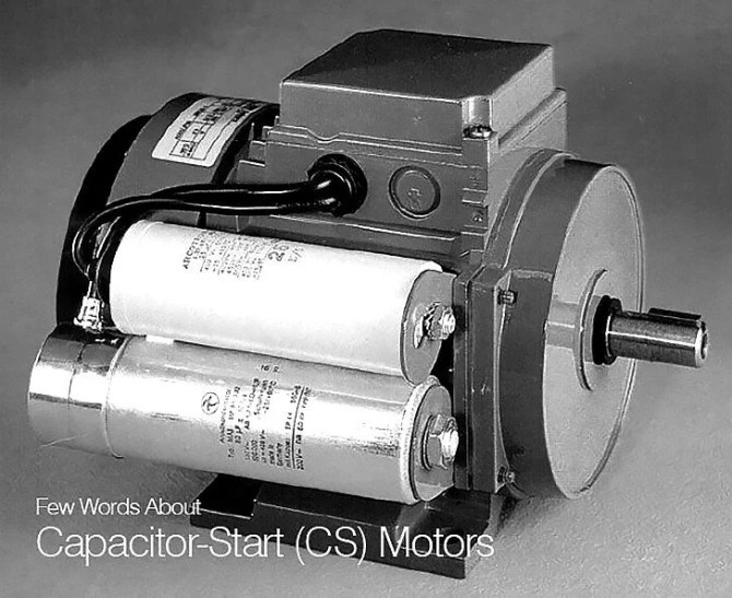 few words about capacitorstart cs motors