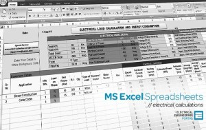 Electrical MS Excel Spreadsheets