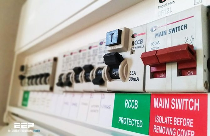 good consumer unit design and low electric fields in the house