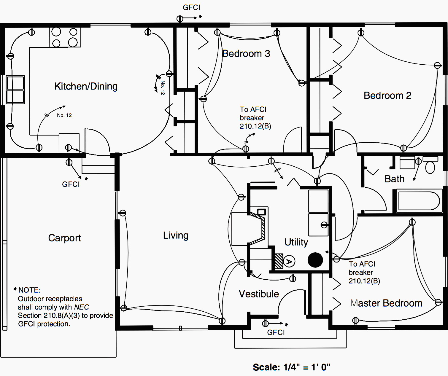 Residential Electrical Circuit Diagram