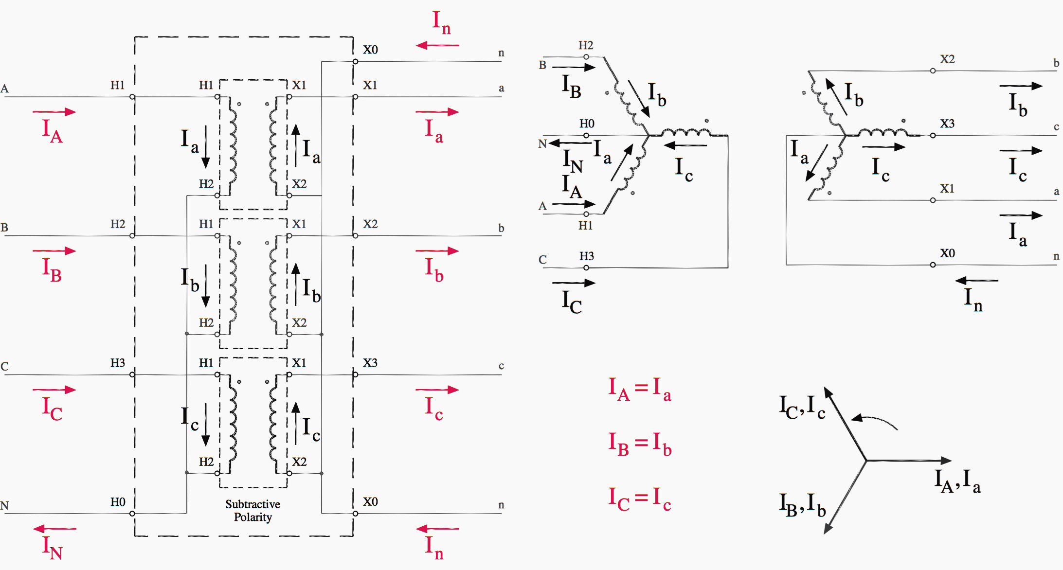 Wye Wye Transformer Connection Diagrams