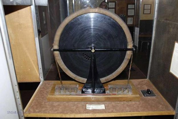 Device used to demonstrate the Rotating Magnetic Field of Electricity