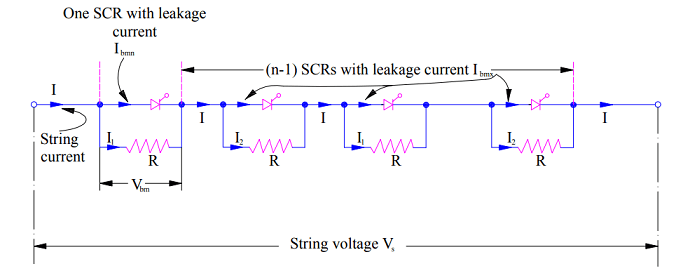 Series Connection Of SCR And Voltage Equalization