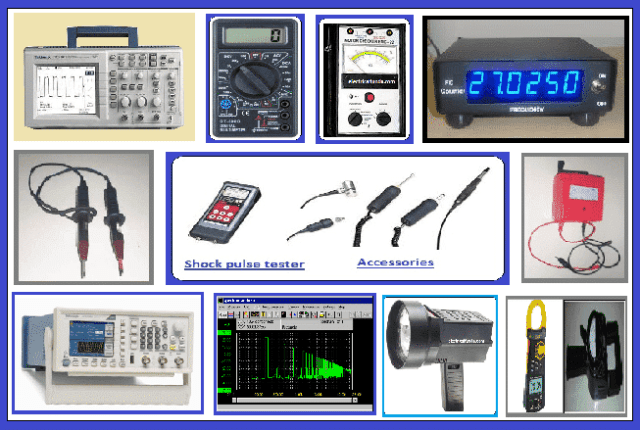 Various types of test equipments
