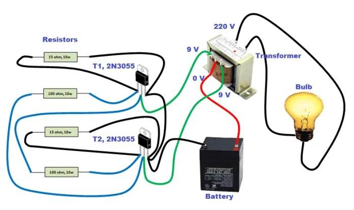 Circuit diagram for making Inverter at home