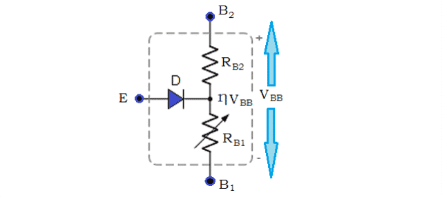 Simplified Equivalent Circuit of Unijunction Transistor (UJT)